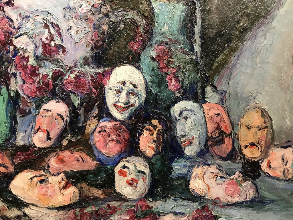 Painting by Wlodzimierz Terlikowski, Les Masques, 1920. - 4