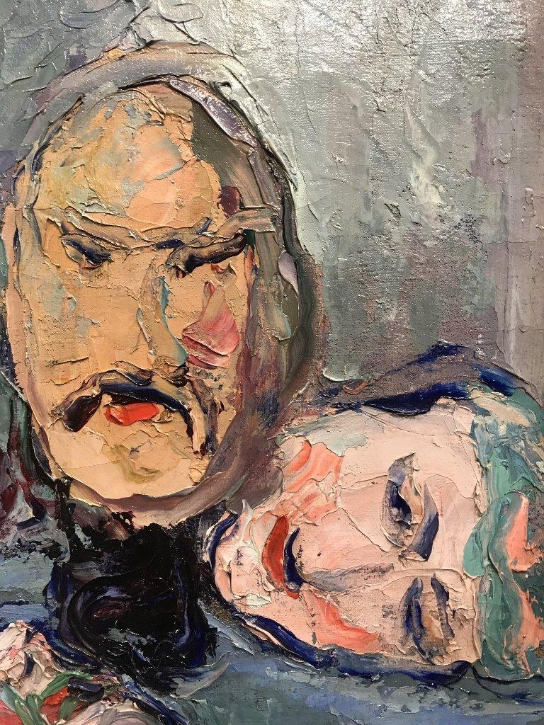 Painting by Wlodzimierz Terlikowski, Les Masques, 1920. - 5