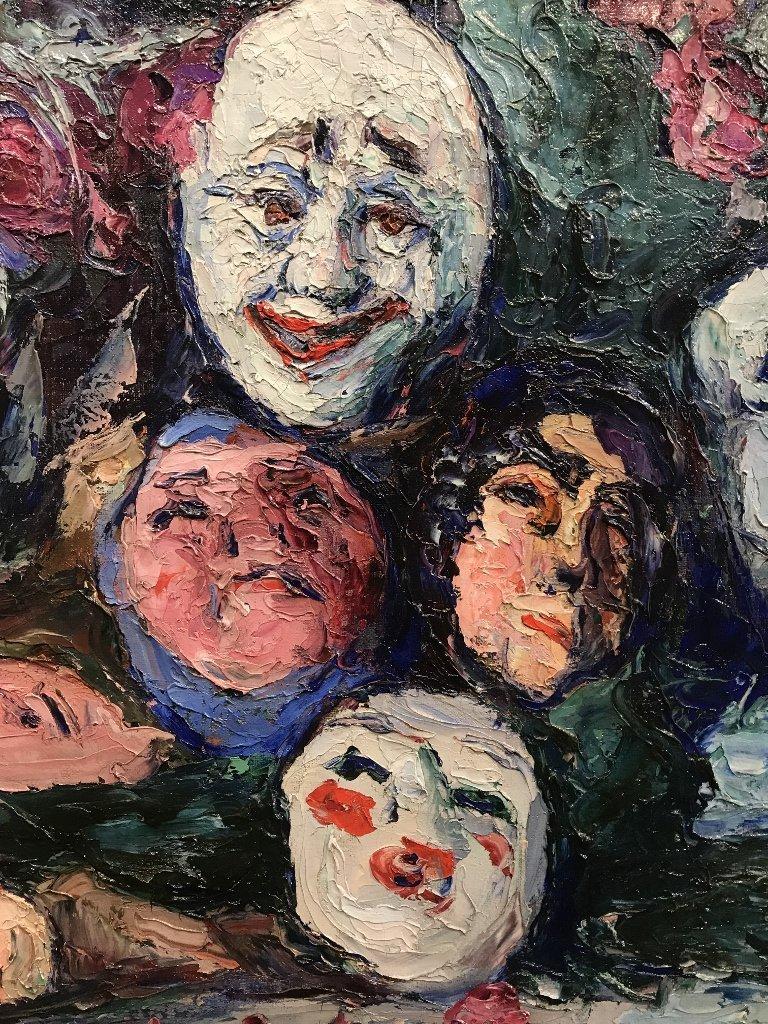 Painting by Wlodzimierz Terlikowski, Les Masques, 1920. - 6