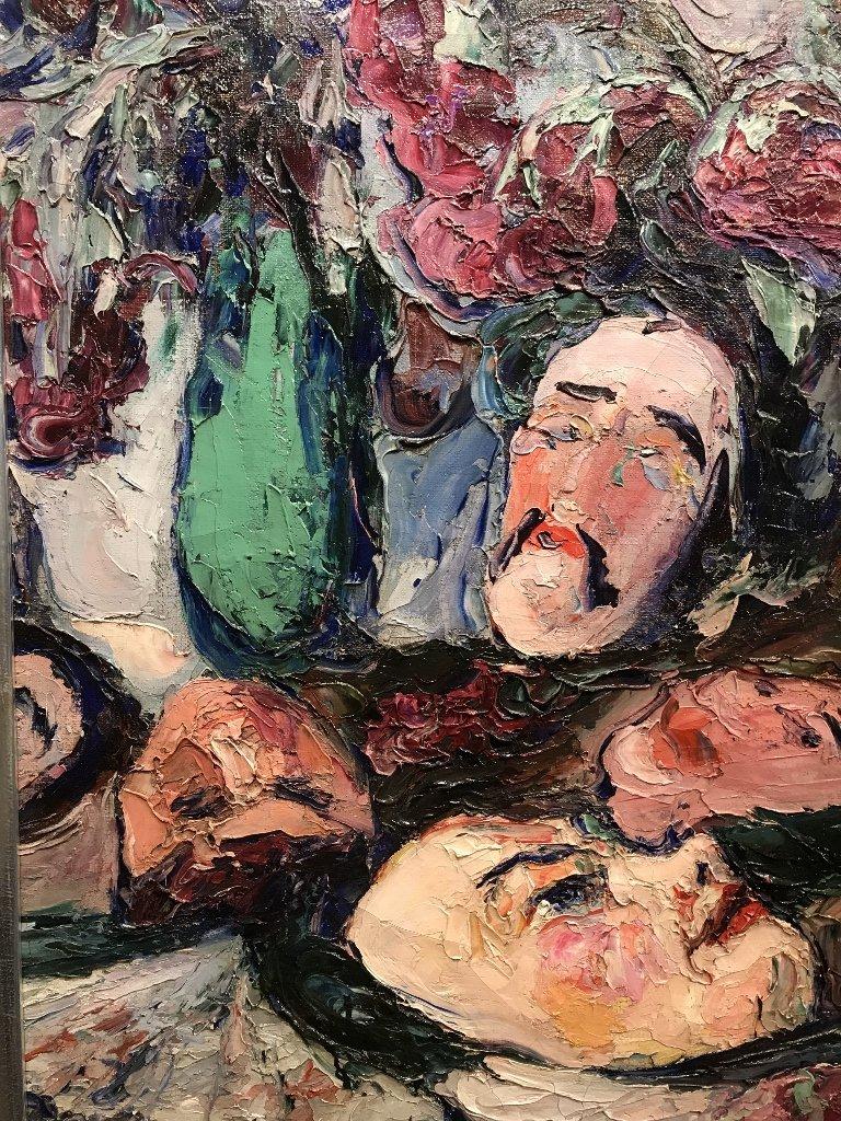 Painting by Wlodzimierz Terlikowski, Les Masques, 1920. - 7