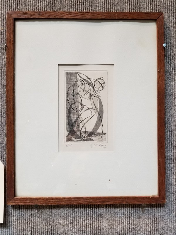 Etching by Gustave Singier
