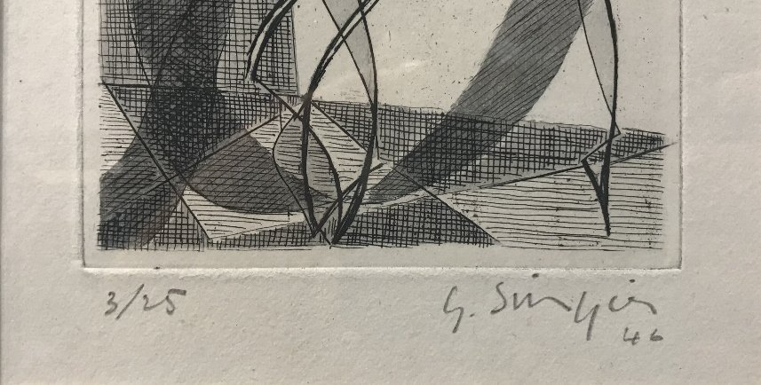 Etching by Gustave Singier - 2
