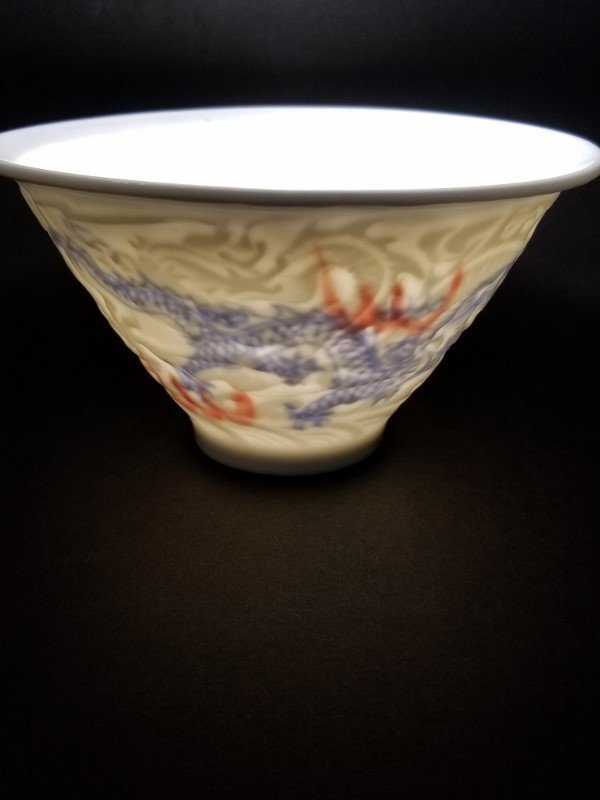 Chinese translucent white porcelain cup