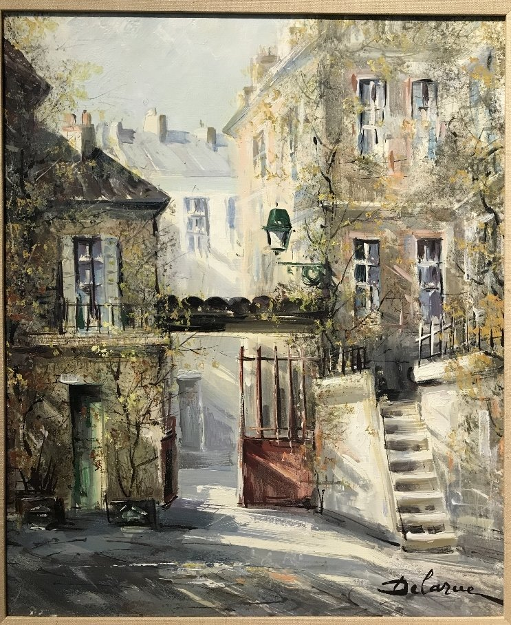 Painting of French village by Lucien Delarue - 6