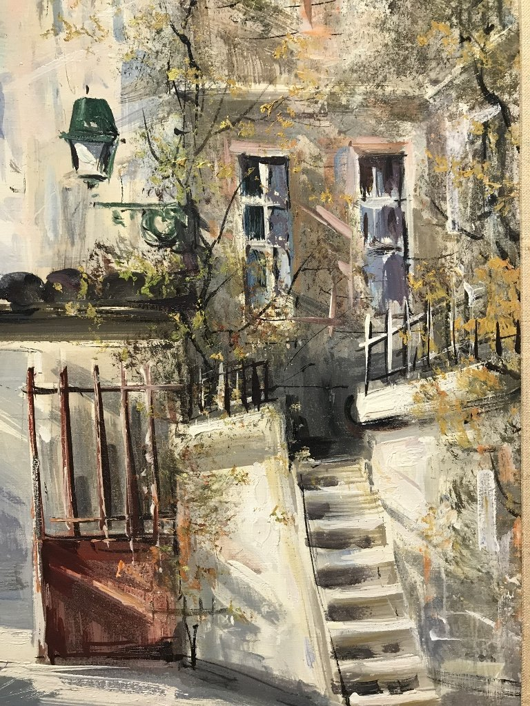 Painting of French village by Lucien Delarue - 7