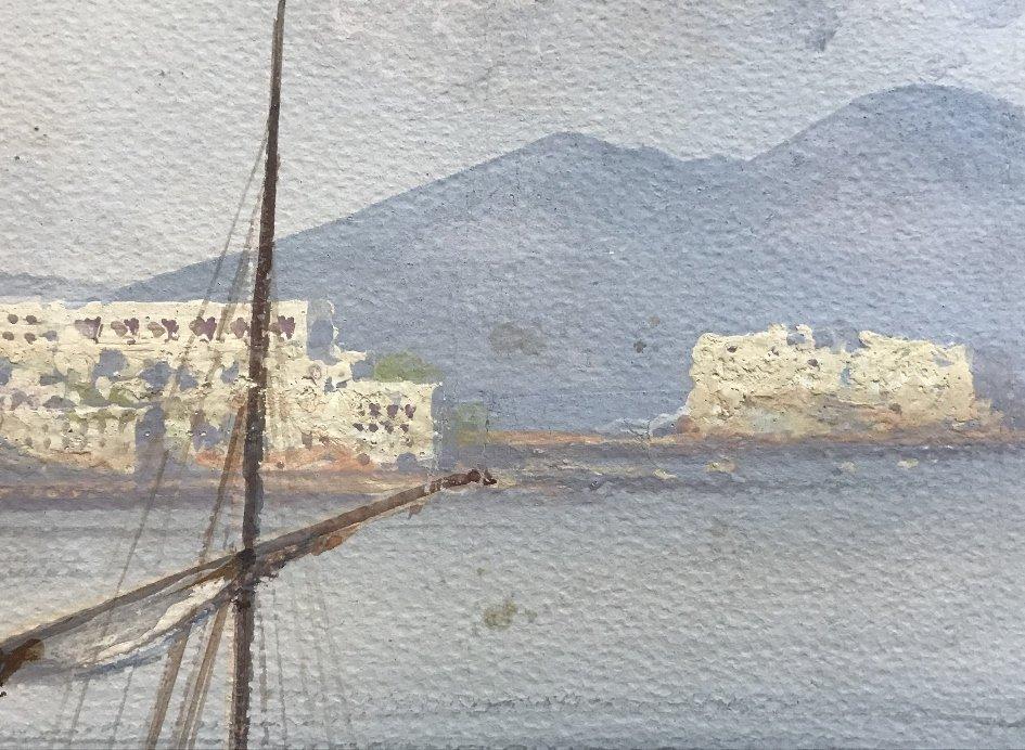 Gouache of Italian coast, signed A.Giaru(?) 1900 - 6