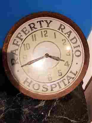 Rafferty Radio Hospital clock, c.1950