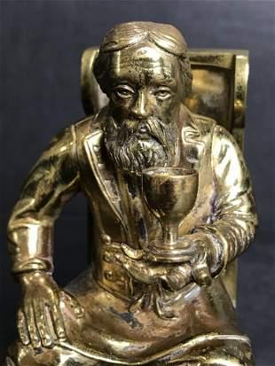 Bronze, Russian man in chair, c.1910