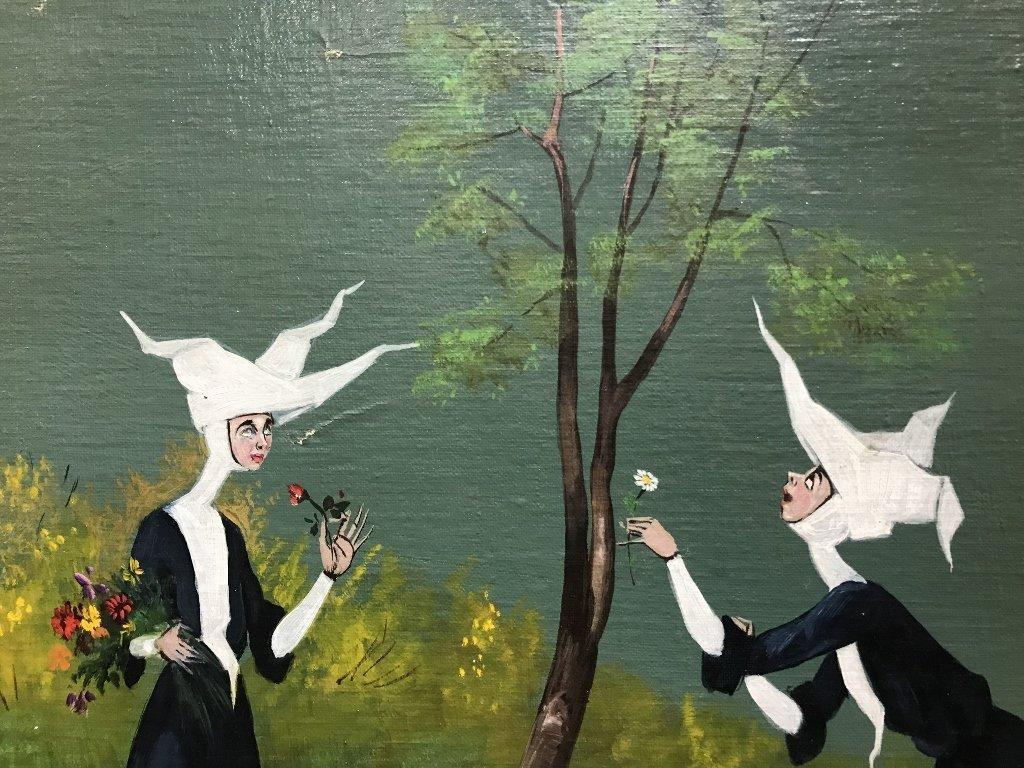 Nun painting by Mario D'Elia, c.1965 - 3
