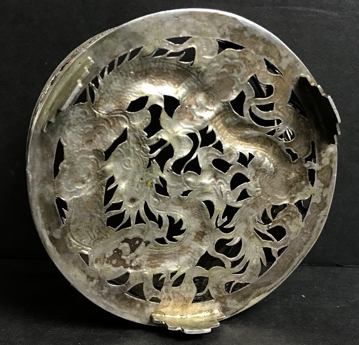 Chinese silver wine coaster and jewelry, 6.8 t. oz - 3