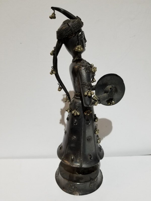Indian silver figure of a musician, c.1900, 13.5 t.oz - 4