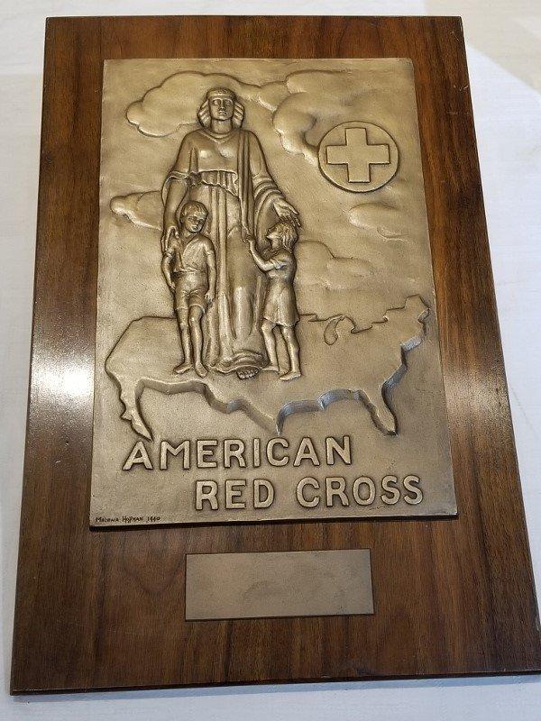Red Cross bronze plaque by Malvina Hoffman