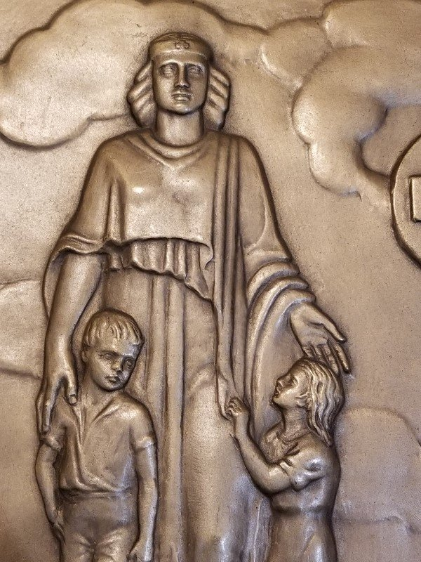 Red Cross bronze plaque by Malvina Hoffman - 2
