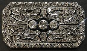 14k diamond brooch, Edwardian style, 9.6 dwts