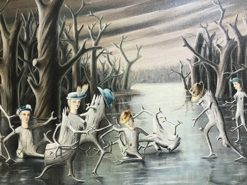 """Dance of the Stump people"", Robert Morse,c.1950 - 6"