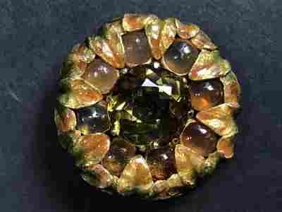 18k enamel Louis Comfort Tiffany brooch, c.1910