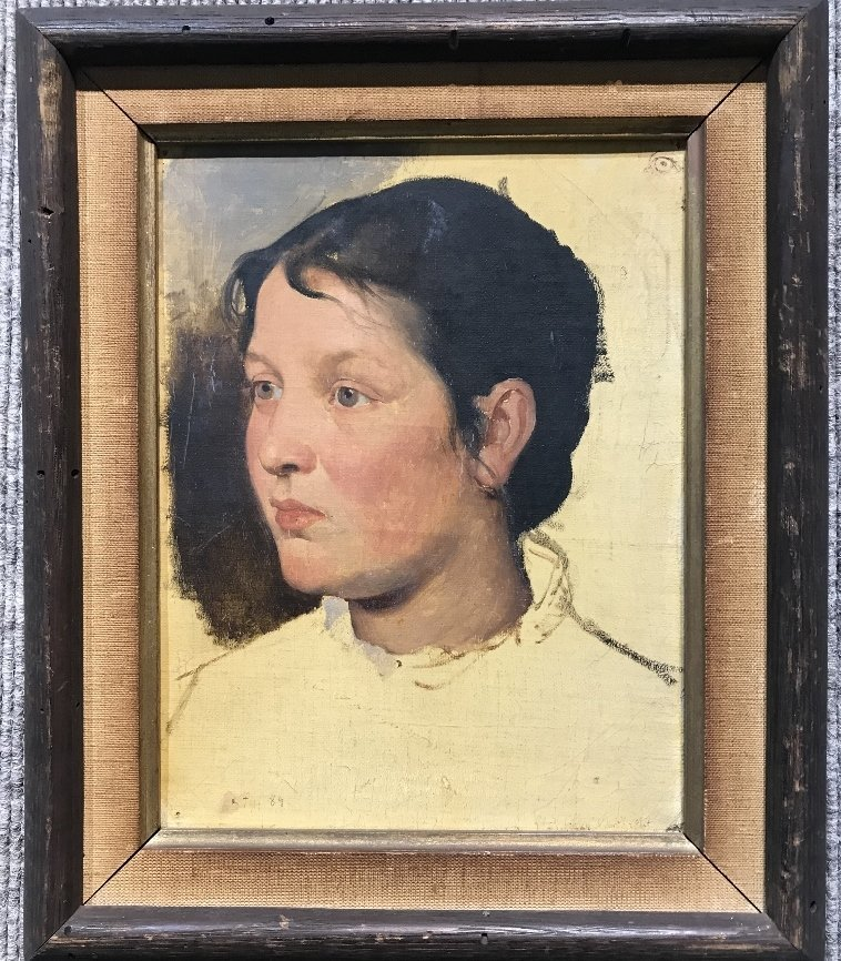 Painting of girl by Theodor Poeckh