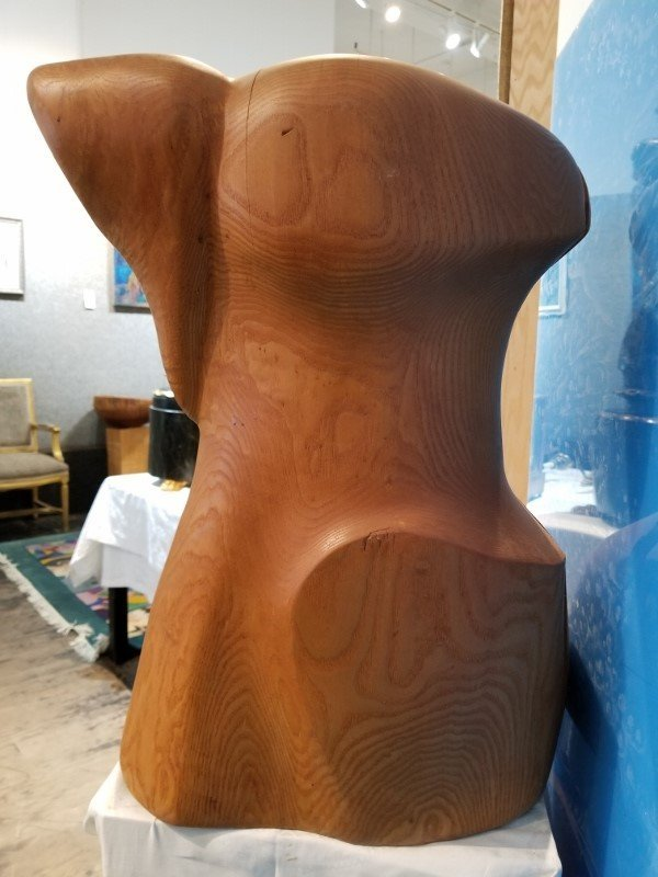 Large wood female form sculpture by Ron Street - 2