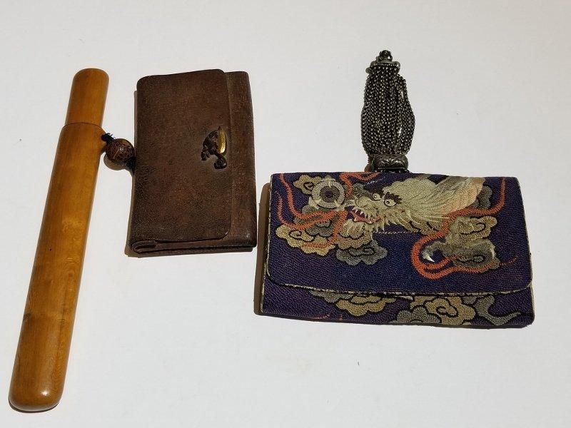 Two Japanese purses, c.1900