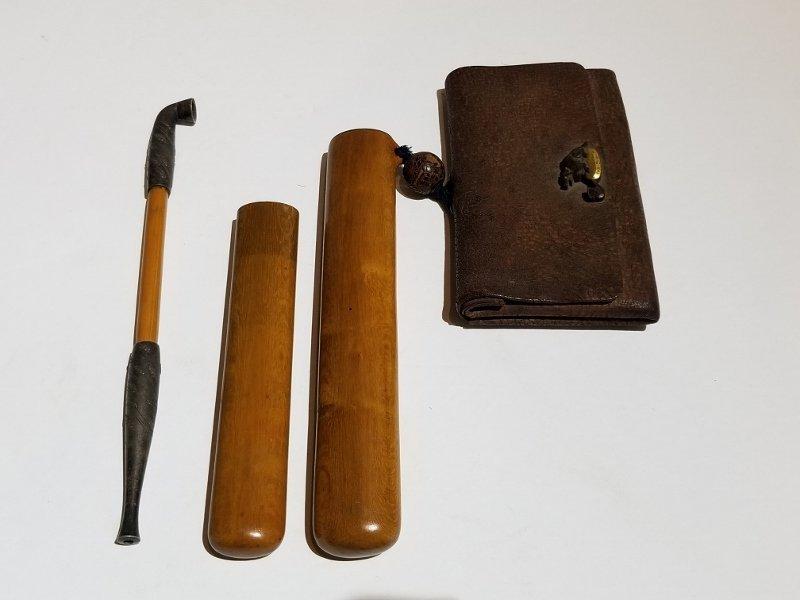 Two Japanese purses, c.1900 - 6