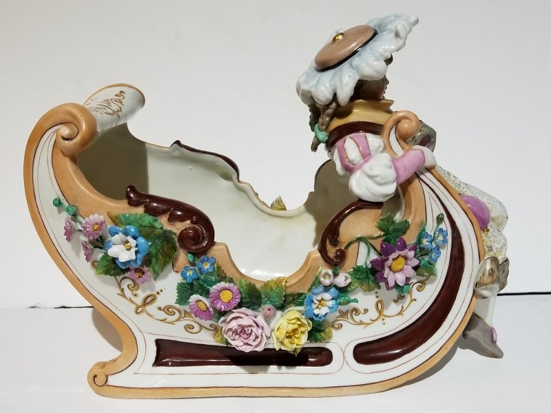 Porcelain figurine of sled, c.1880 - 2