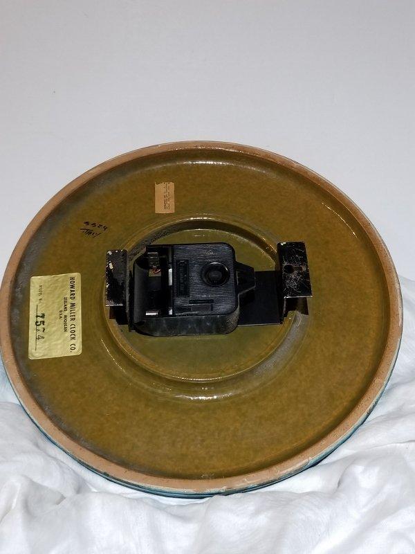 Howard Miller Meridian ceramic clock, 1960's - 2