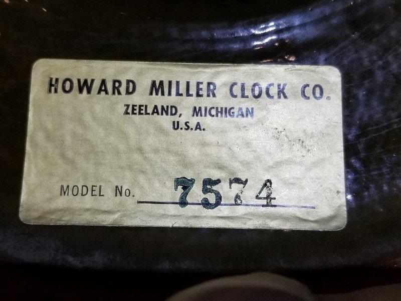 Howard Miller Meridian ceramic clock, 1960's - 3