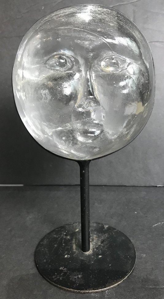 Glass face by Erik Hoglund for Kosta Boda