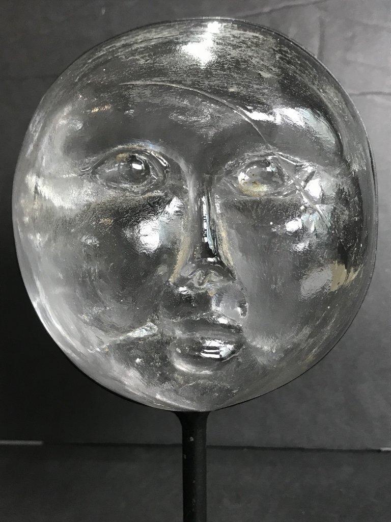 Glass face by Erik Hoglund for Kosta Boda - 2