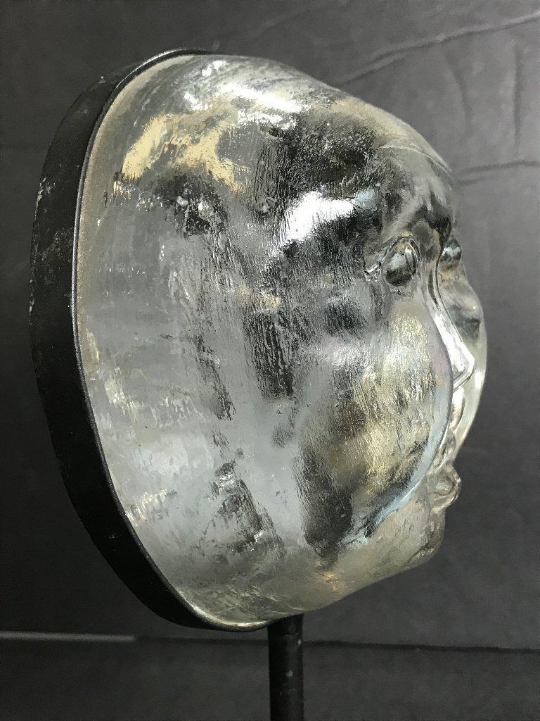 Glass face by Erik Hoglund for Kosta Boda - 3