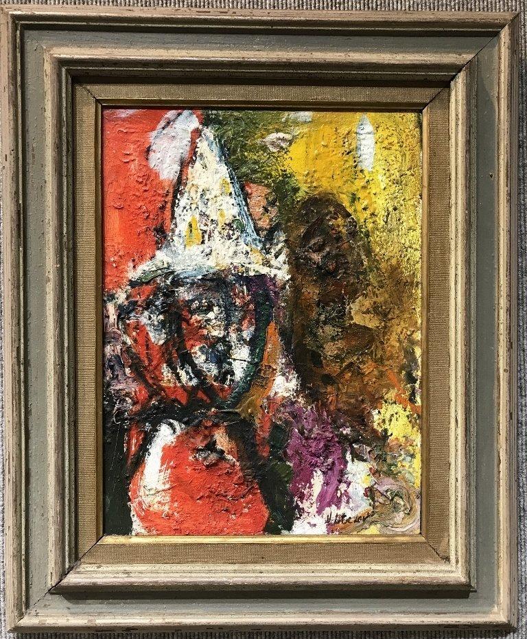 Vladimir Lebedev painting of a clown