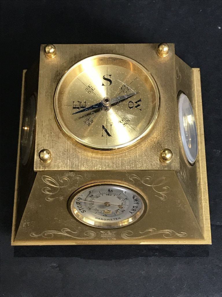 Gubelin desk clock, circa 1965