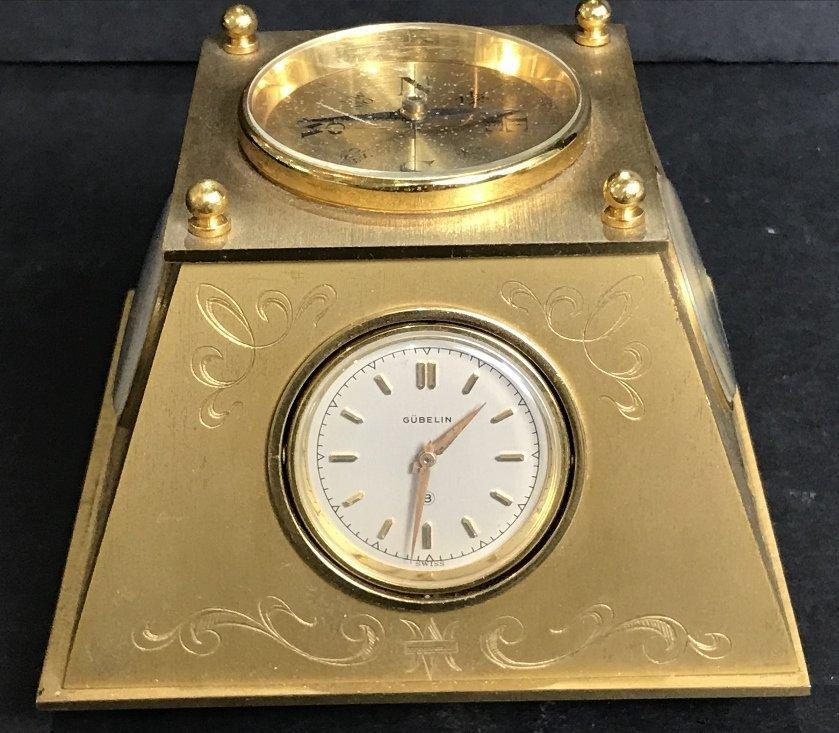 Gubelin desk clock, circa 1965 - 2