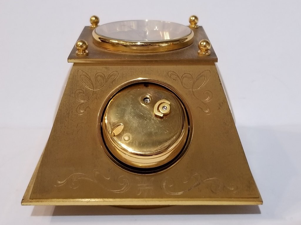 Gubelin desk clock, circa 1965 - 8
