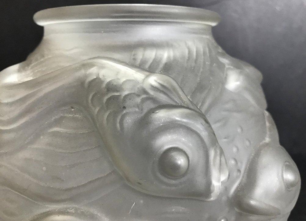 Czechoslovakian vase with fish. c.1930 - 7