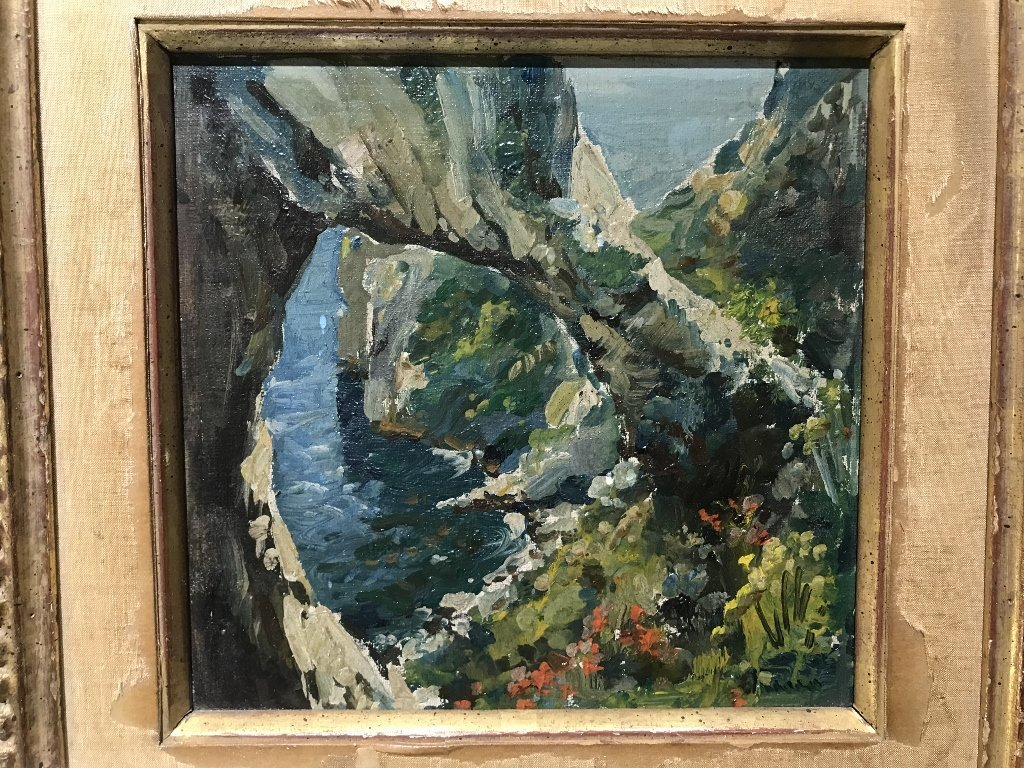 Painting of cove, signed, 1930s - 2