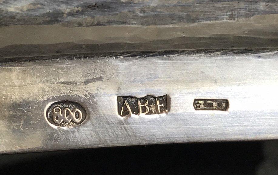 800 silver inkstand w/ angel bell, 29.9 t. oz - 2
