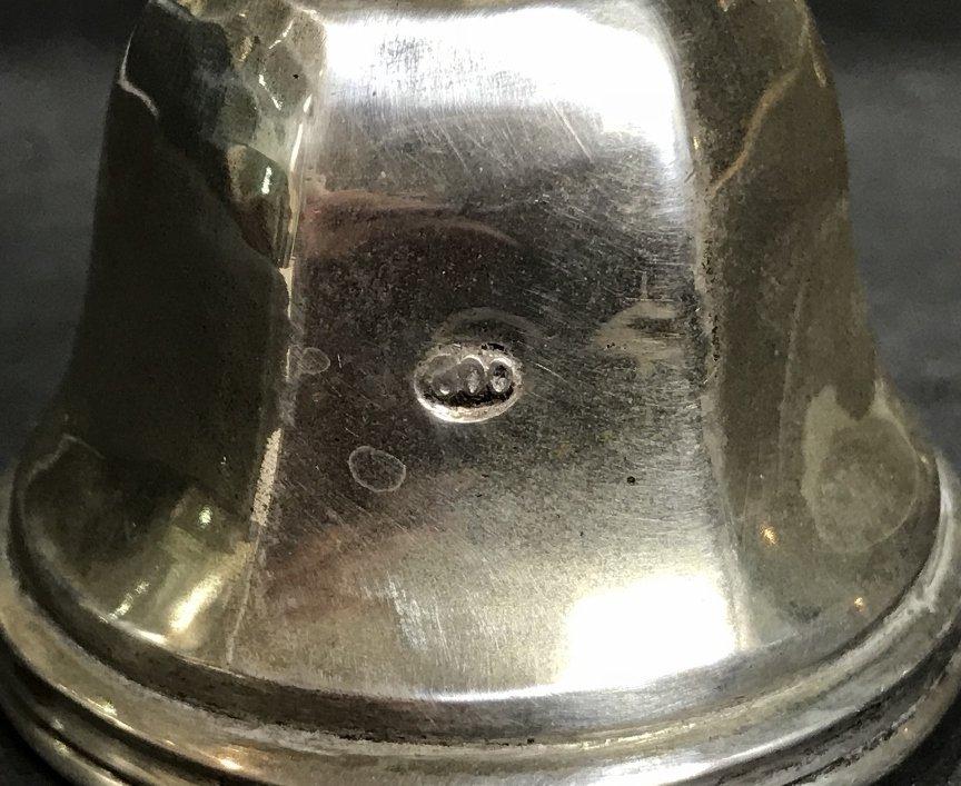 800 silver inkstand w/ angel bell, 29.9 t. oz - 3