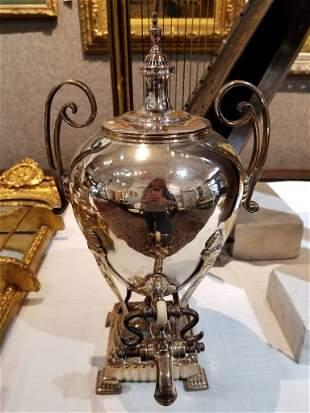 19th century silver on copper samovar