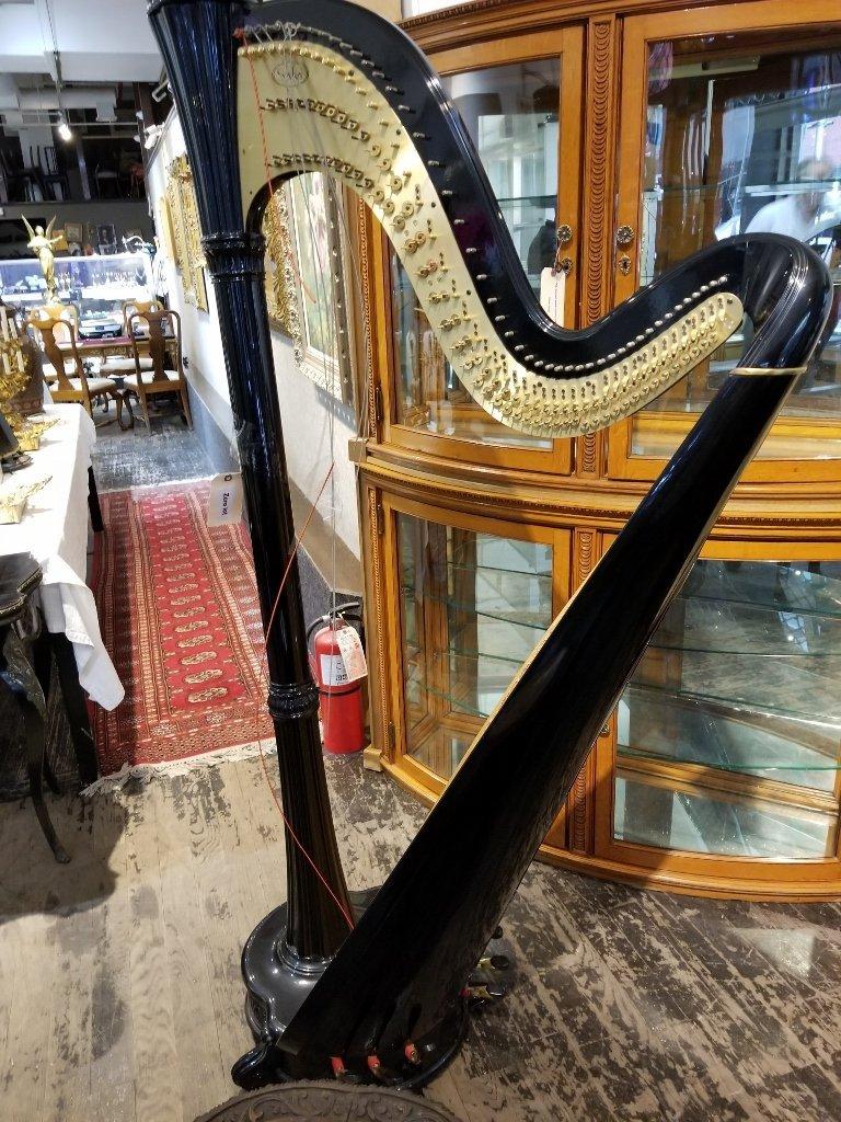 "Large black harp marked ""Salvi"" - 2"