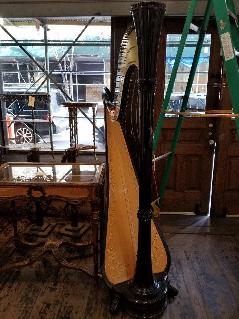 "Large black harp marked ""Salvi"" - 3"