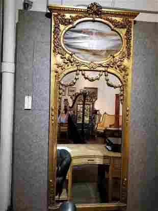 """Large trumeau mirror, signed: """"A.Coudert"""""""