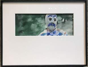 Photo of clown, Hunt Fine Arts estate
