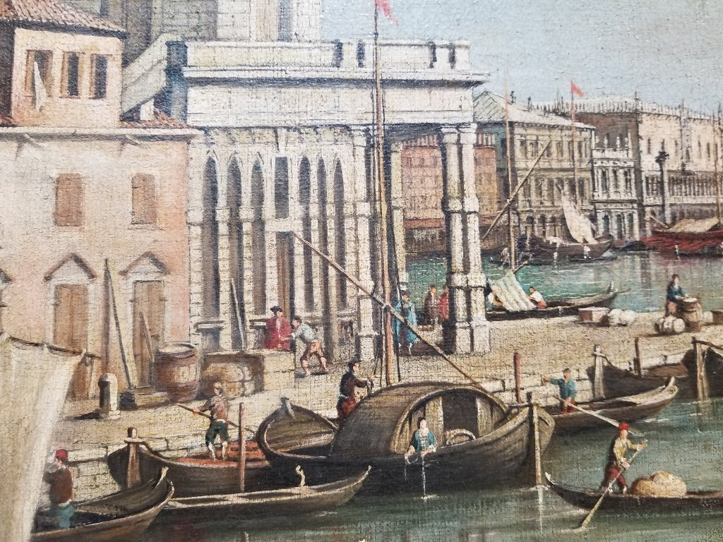 Large painting of the Grand Canal, 18th/19th c - 2