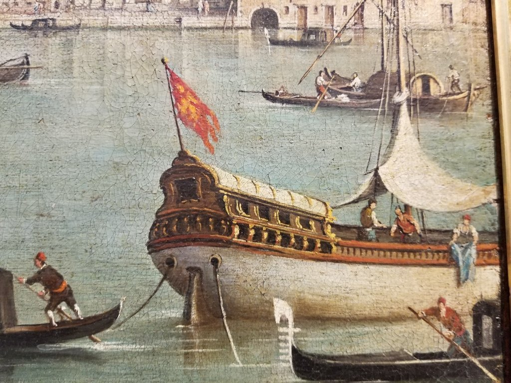 Large painting of the Grand Canal, 18th/19th c - 4