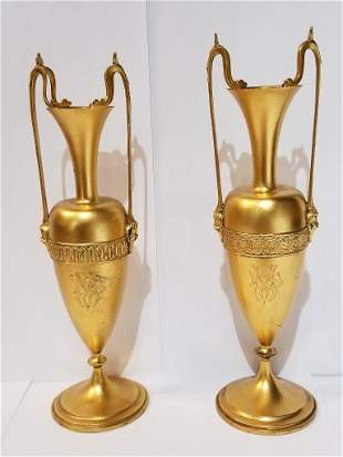 Two Tiffany & Co ster Union Square vases, 9 t. oz