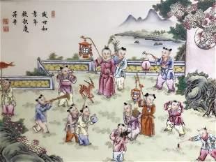 Chinese porcelain plaque, circa 1900