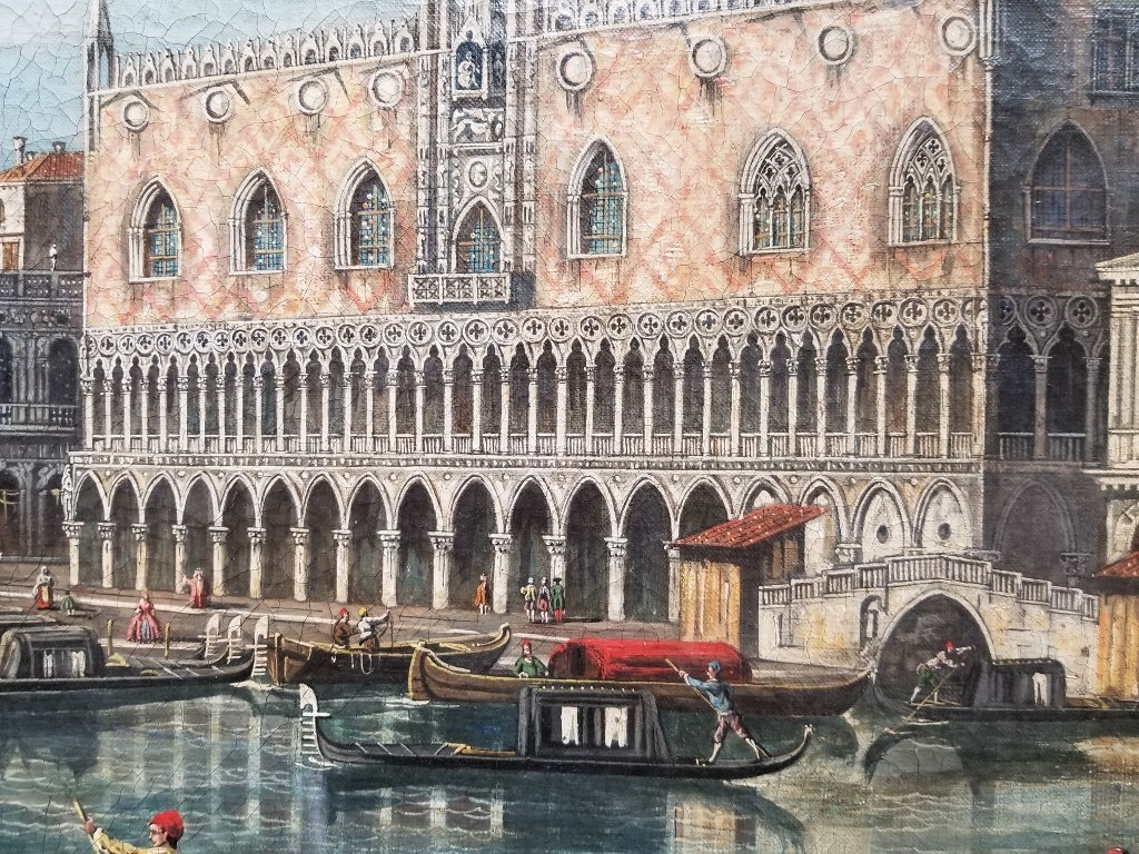 Painting of Doge's Palace, Venice, 18th/19th c - 2