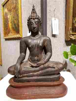 Early bronze Thai Buddha, 18th/19th cen