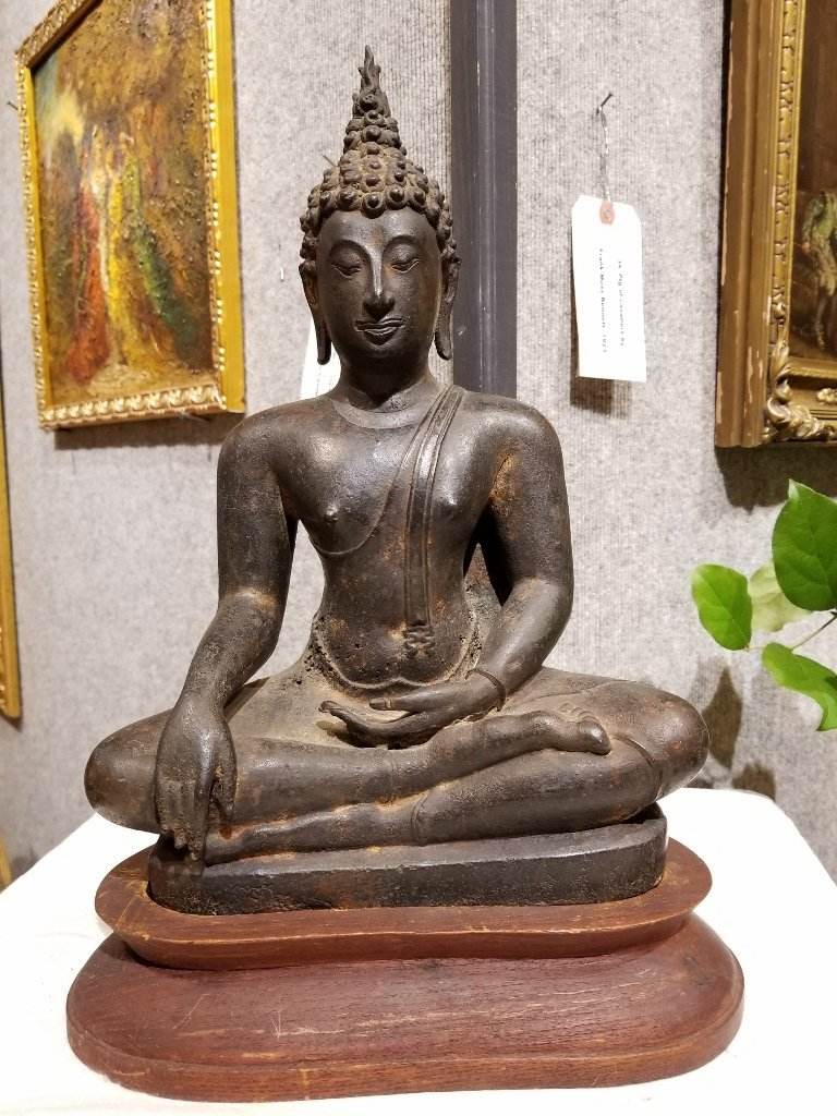 Early bronze Thai Buddha, 18th/19th cen
